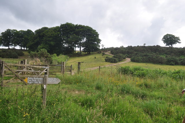 Exmoor : Wimbleball - Signpost & Hillside