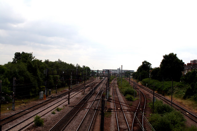 Finsbury Park:  View from a footbridge