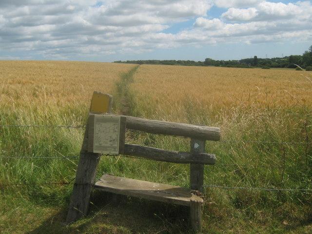 Stile near Cadehill Wood