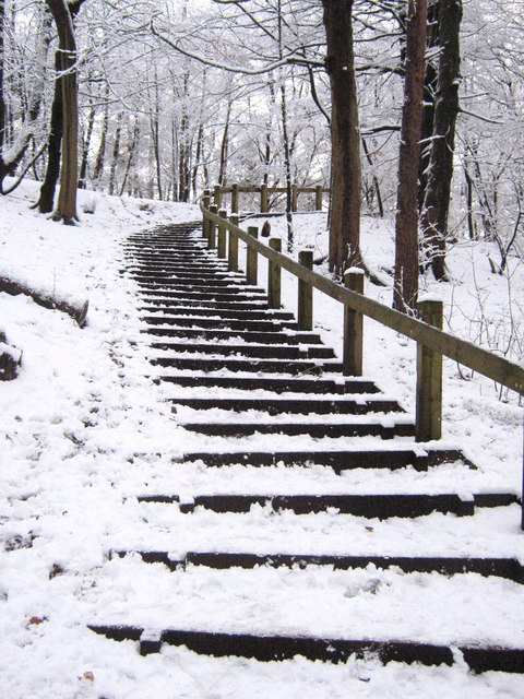 Steep flight of steps