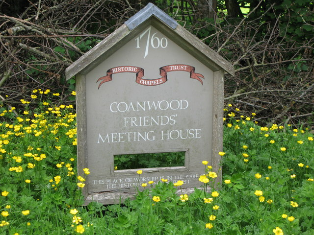 Sign for Coanwood Friends' Meeting House