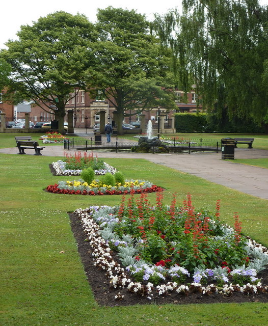 King's Park, looking towards Retford town centre