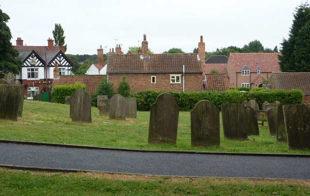 Churchyard and part of old Ordsall