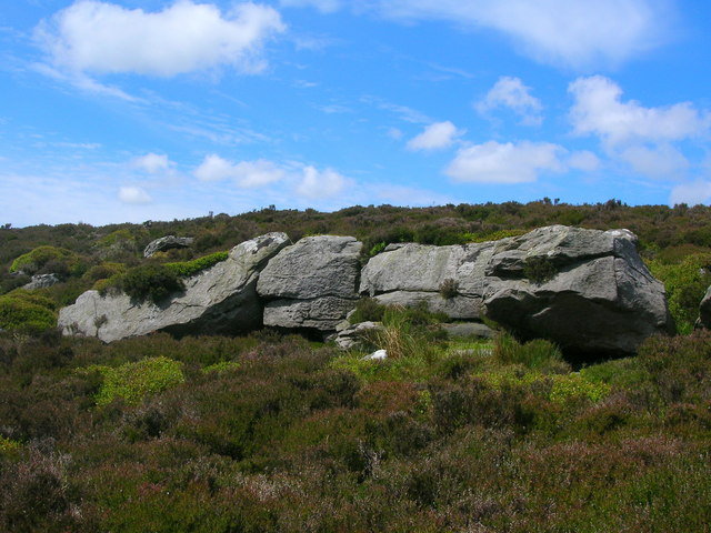 Rock outcrops on the edge of Embsay Moor