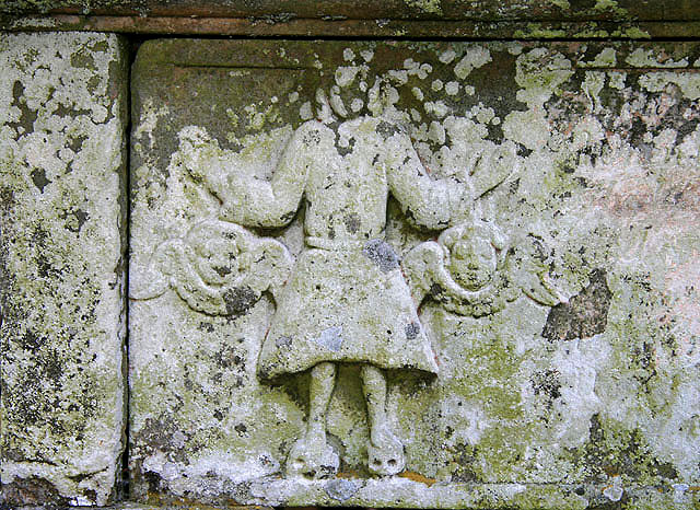 A table tomb detail at Southdean (Chesters) Parish Churchyard