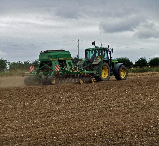 Seed Drilling near Bonby Top Farm