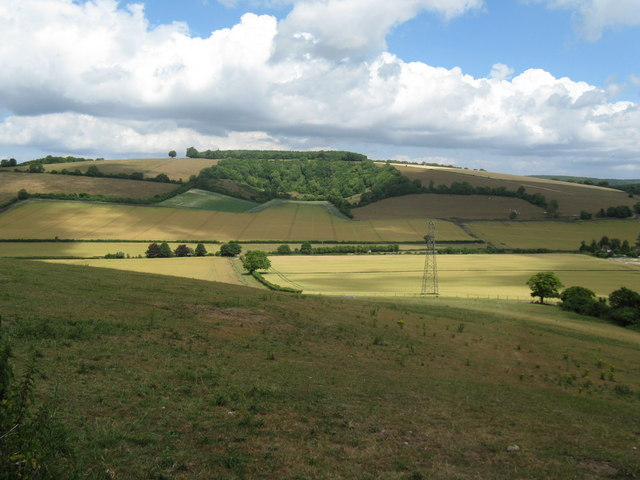 Hillside view across the River Lavant valley