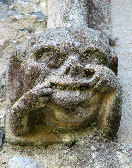 St Michael's church in Ormesby - stone face
