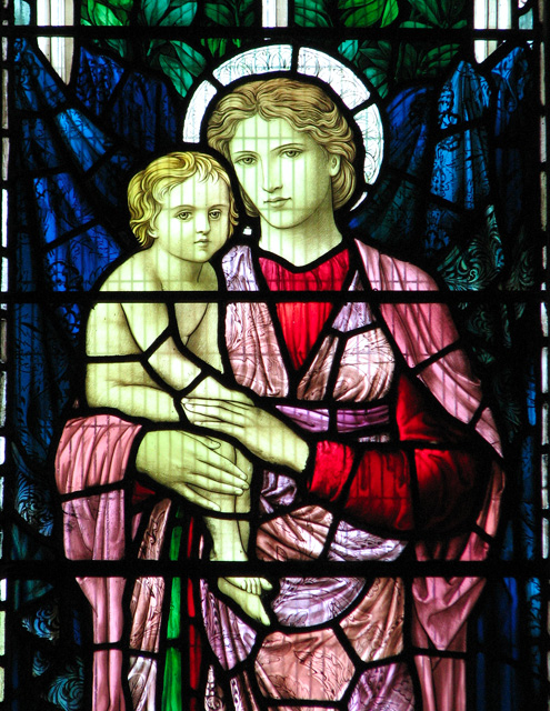 St Michael's church in Ormesby - east window (detail)