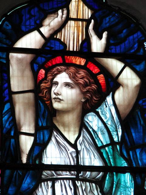 St Michael's church in Ormesby - stained glass (detail)
