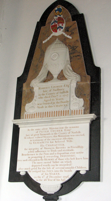 St Michael's church in Ormesby - C18 memorial