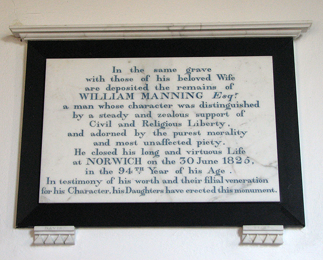 St Michael's church in Ormesby - C19 memorial