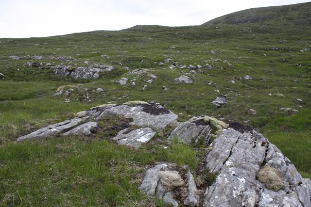 Rocky moorland below Creagan a' Chaorrainn
