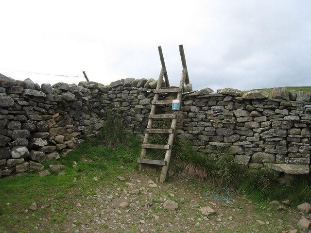 Ladder stile on the Pennine Way