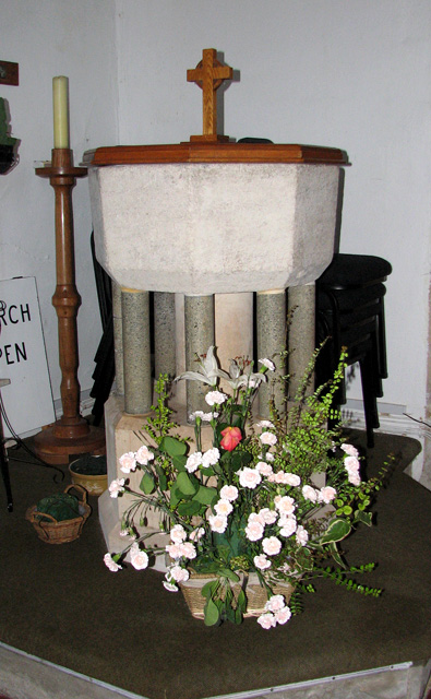 St Michael's church in Ormesby - baptismal font