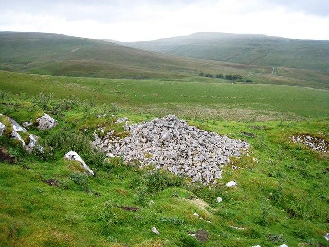 Pile of stones on Little Fell