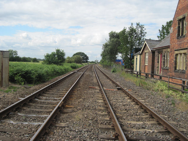 North along railway from Moortown
