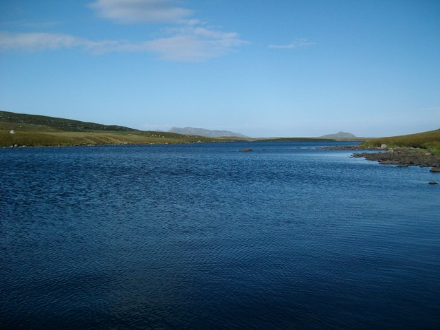 View towards Burabhal from Loch Carabhat