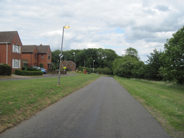 Housing and road in Brookenby