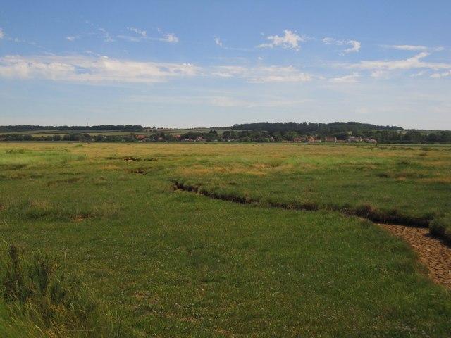 Brancaster Marsh in dry weather