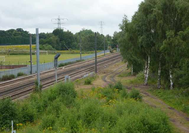 Main line north of Retford