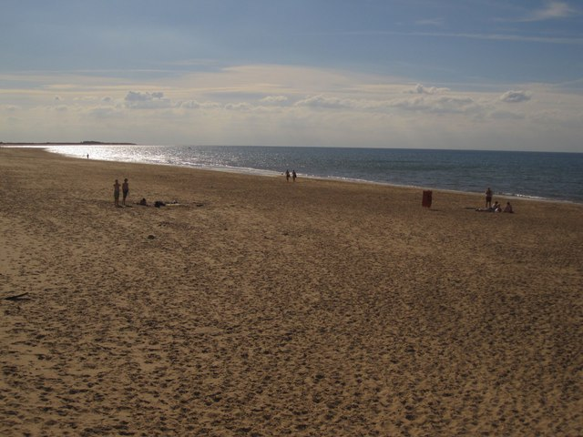 Brancaster Beach: the eastern end on a summer evening