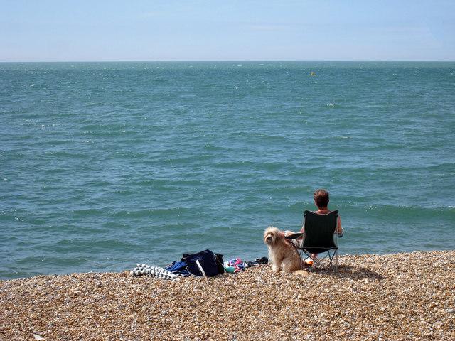 Enjoying the Sunshine on Hythe Beach