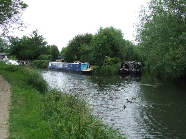 Canal boats on the Stort Navigation