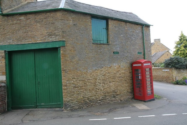 Phone box by the barn