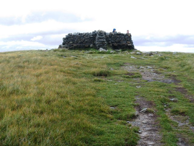 Approaching the summit of Great Shunner Fell