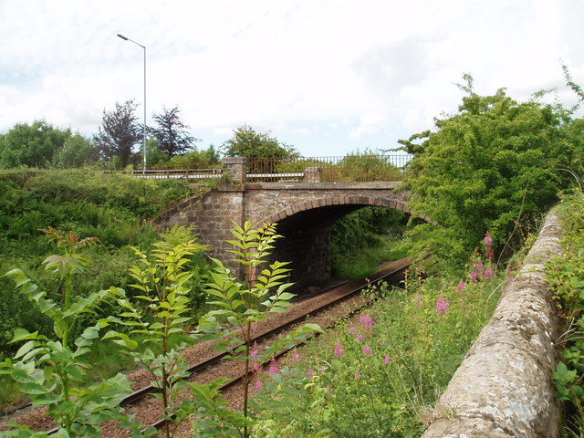 Road bridge over rail line