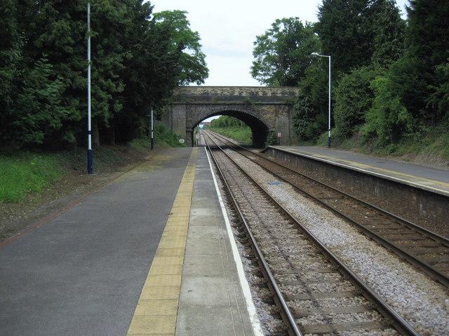 Platform at Dinsdale Railway Station