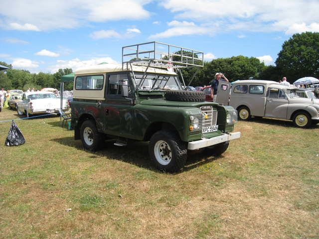 Series 3 Land Rover at Darling Buds Classic Car Show