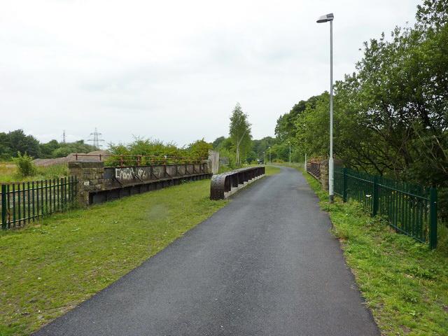 Footpath on former railway