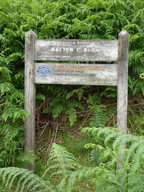 Ratten Clough, Sign