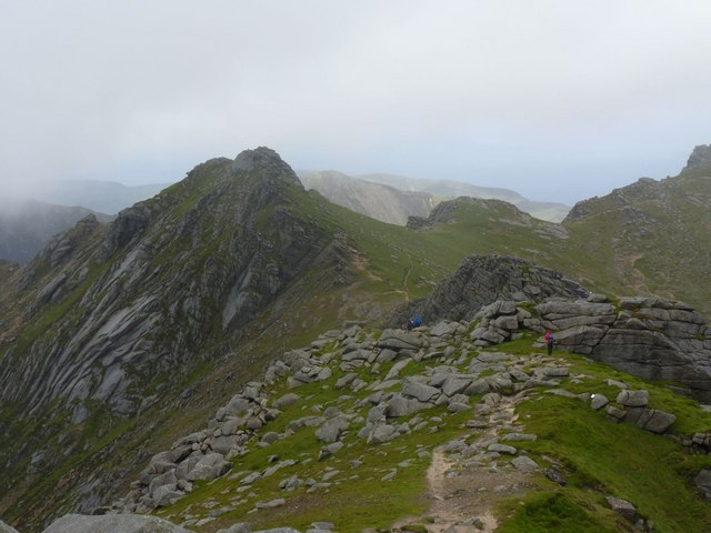 Walking north along Goatfell Ridge, Isle of Arran