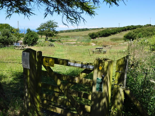 A gate onto the footpath which leads from Lower Campscott to Lee