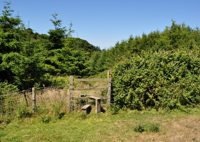 A stile which takes the footpath into Crowness Cleave on the way to Lee