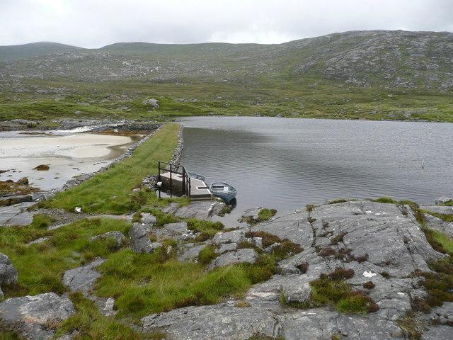 Jetty and fishing boats, Loch Fincastle