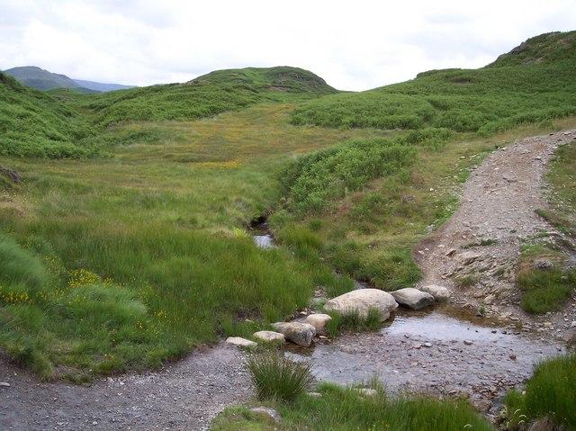 Stepping stones near Ivy Crag