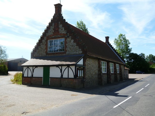 Hindringham: the Village Hall, in Arts and Crafts style