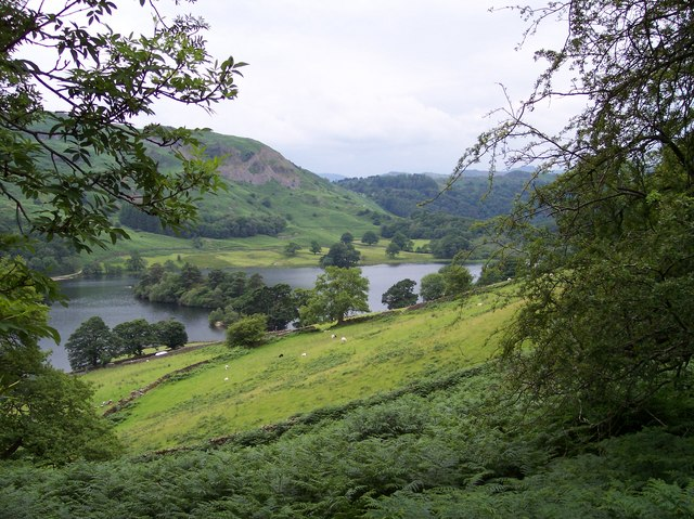 Heron Island in Rydal Water from the Corpse Road