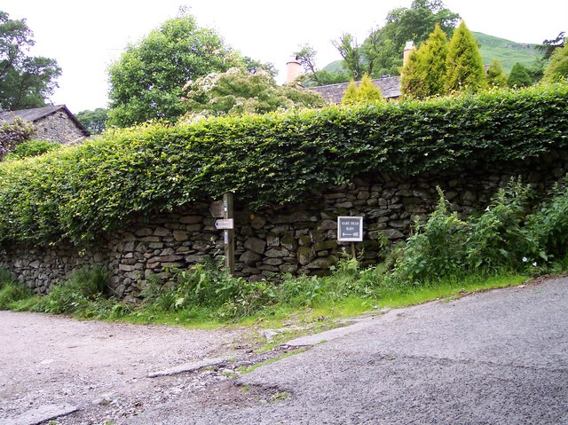 Signpost for the Corpse Road at Rydal