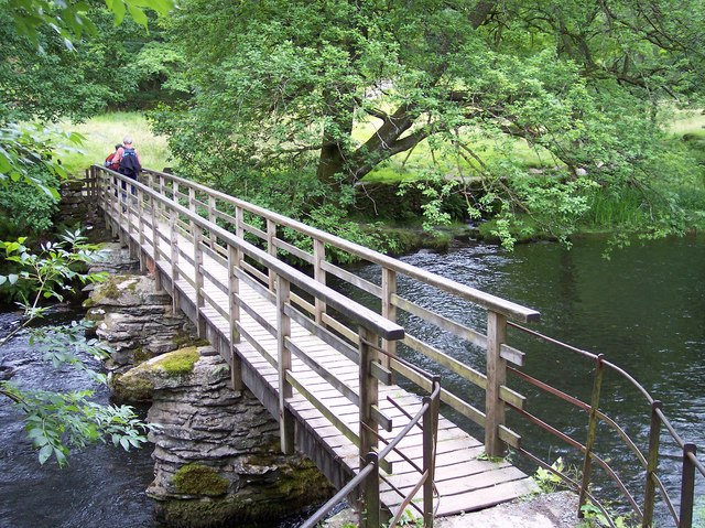 Footbridge over River Rothay at Rydal