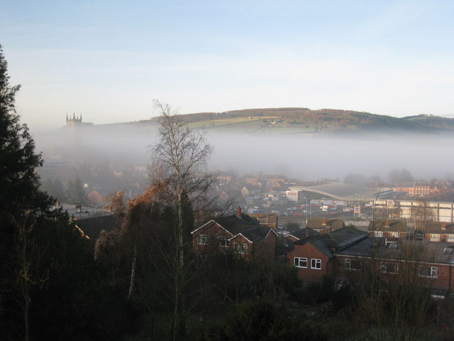 A misty February morning in Ludlow