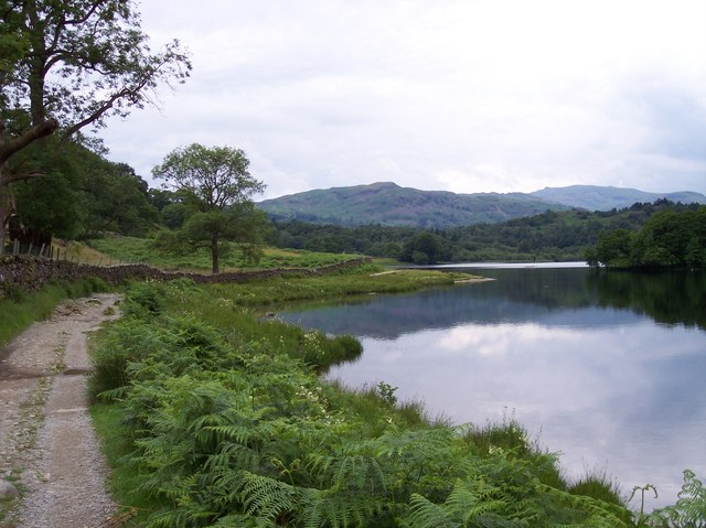 Path on south bank of Rydal Water