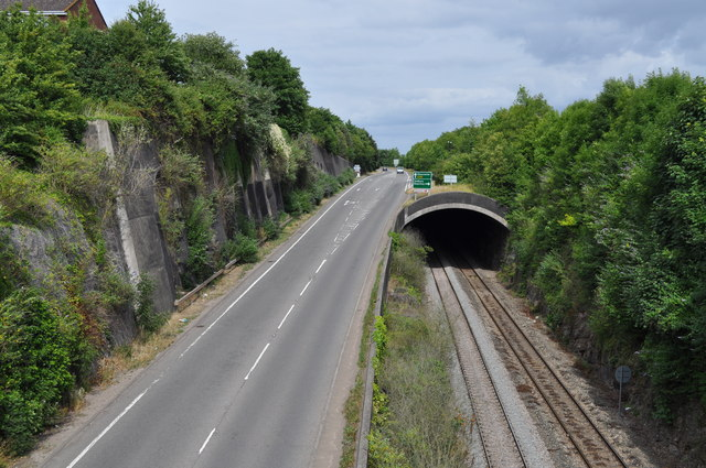 A48 road and railway tunnel