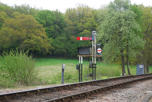Signal on the Bluebell Railway
