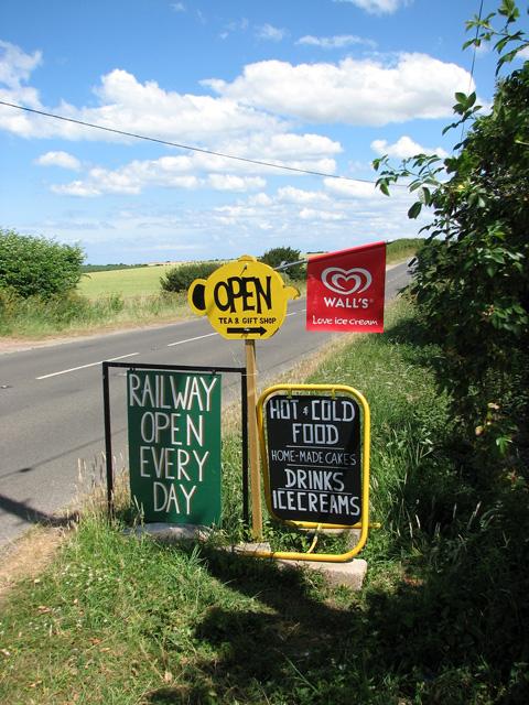 Wells & Walsingham Light Railway - sign