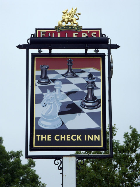 The Check Inn sign, Woodland View, Wroughton